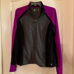 Xersion Jacket in Fabulous Dark Pink and Gray - M